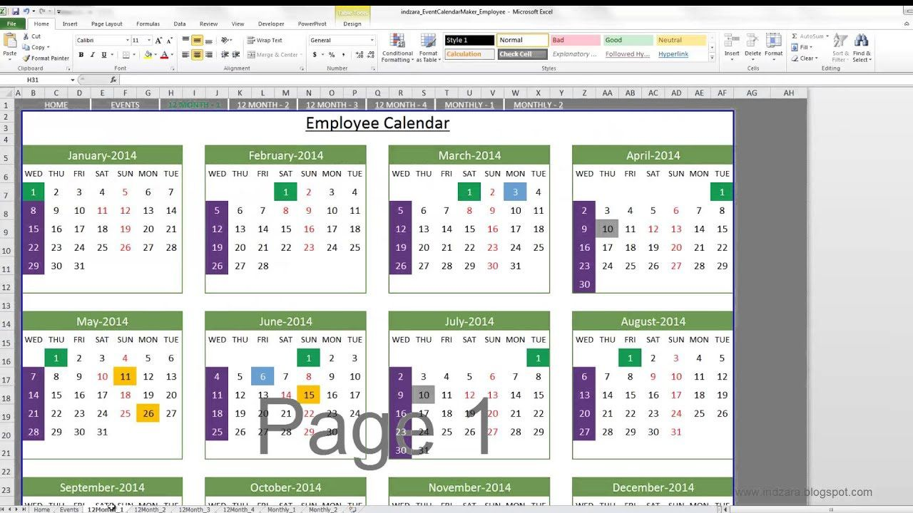 004 Sensational Microsoft Excel Calendar Template Inspiration  Office 2013 M Yearly 2019Full