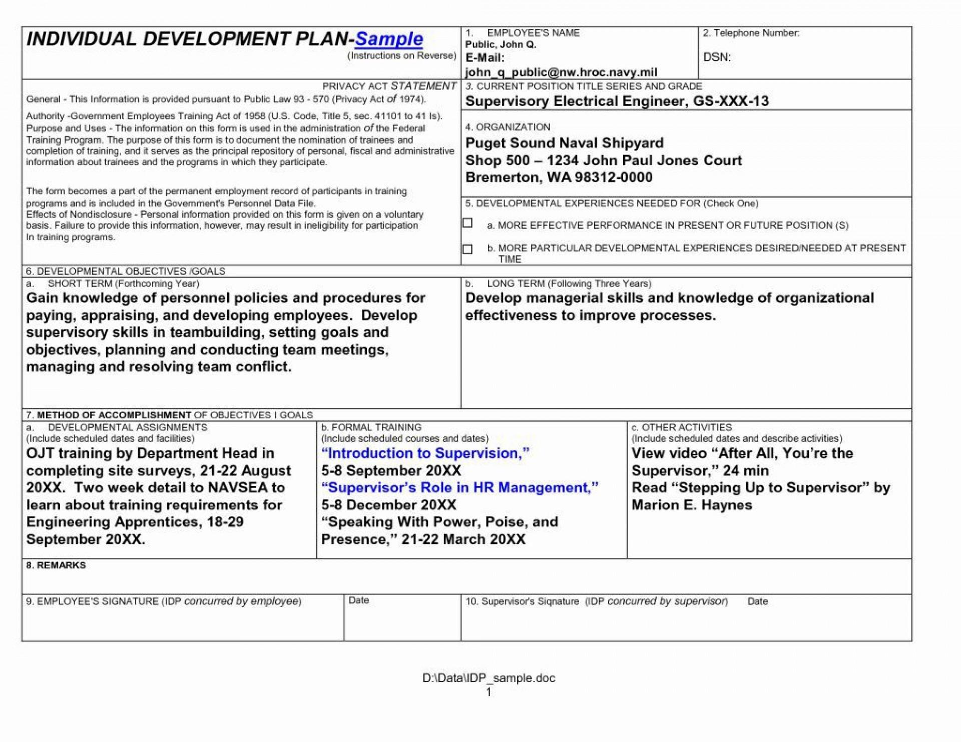 004 Sensational Personal Development Plan Template Doc High Definition  Doctor Word Document1920