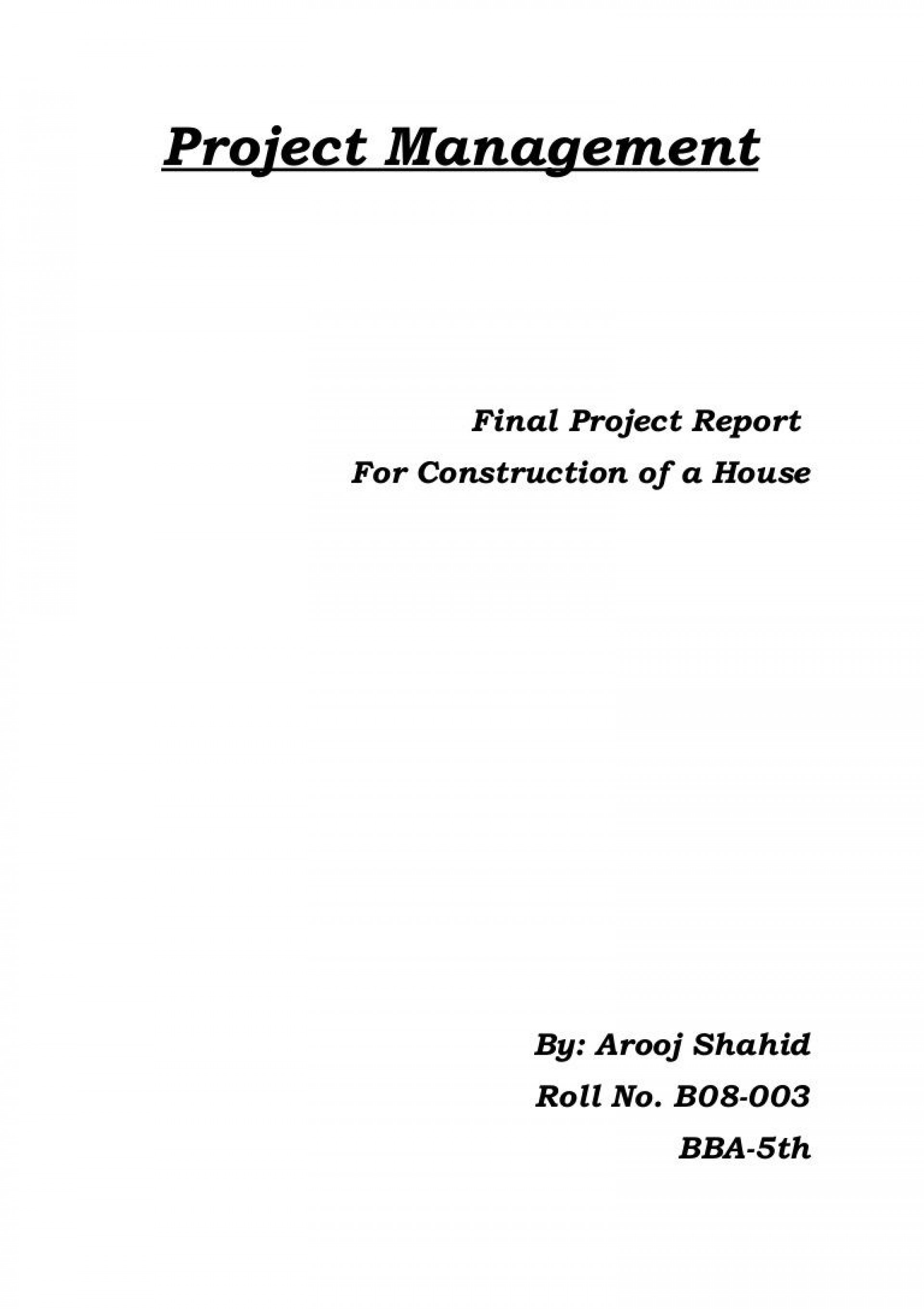 004 Sensational Project Management Report Format Highest Quality  Template Word Free Example Pdf1920