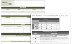 004 Sensational Project Risk Management Plan Template Excel Free Concept