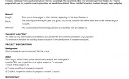 004 Sensational Research Project Proposal Example Psychology