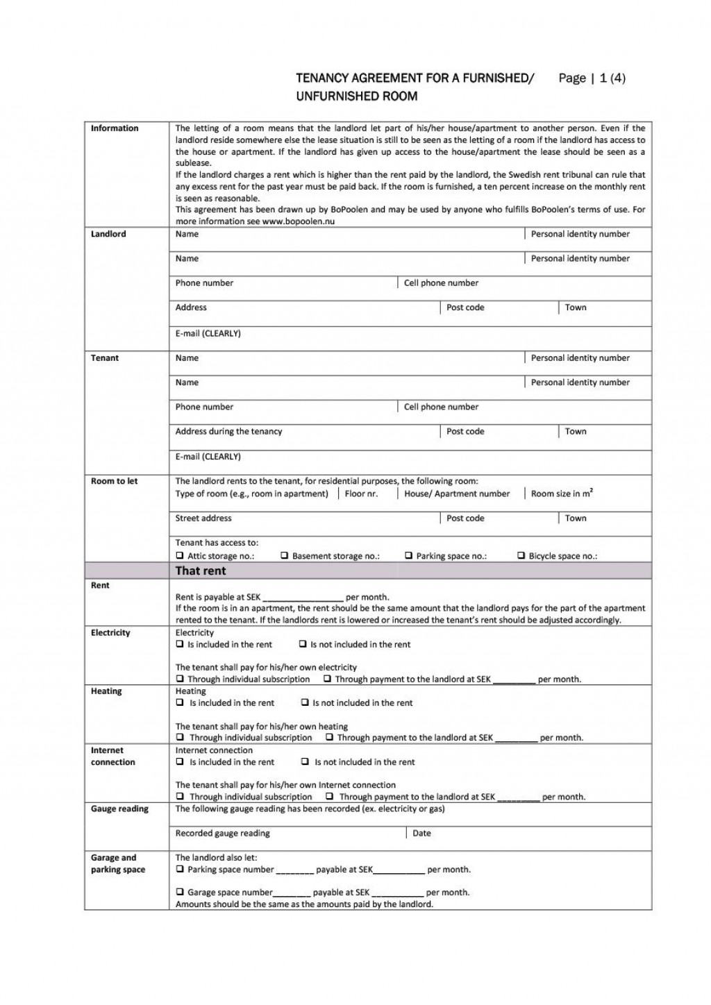 004 Sensational Room Rental Agreement Template Word Doc Malaysia Highest Quality Large