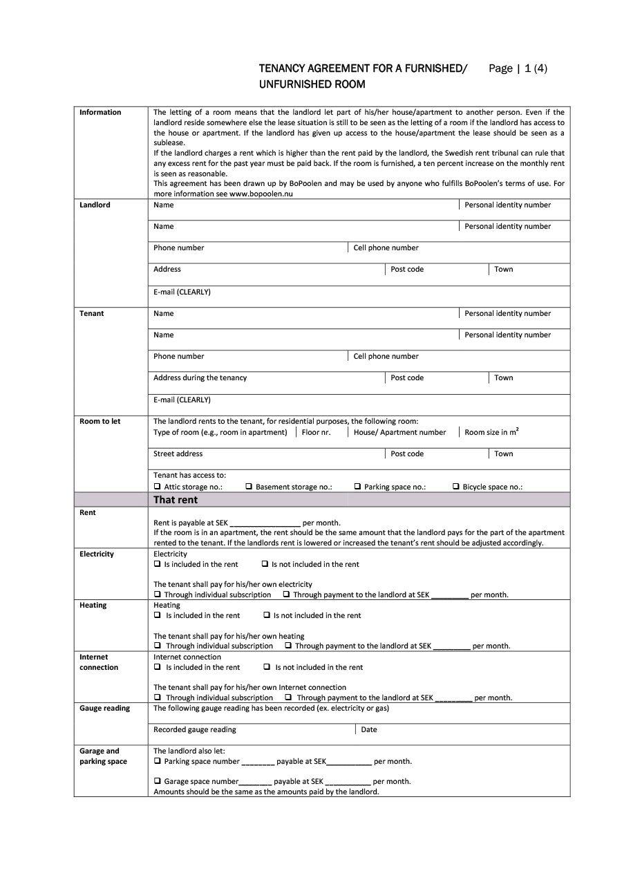 004 Sensational Room Rental Agreement Template Word Doc Malaysia Highest Quality Full