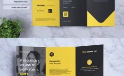 004 Sensational Three Fold Brochure Template Psd High Resolution  A4 3 Free