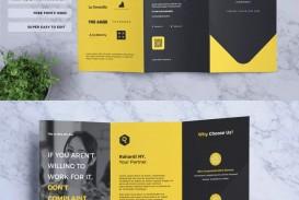 004 Sensational Three Fold Brochure Template Psd High Resolution  Free 3 A4 Tri Download