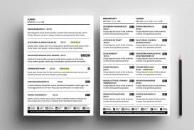 004 Sensational To Go Menu Template Concept  Tri Fold Word