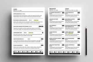 004 Sensational To Go Menu Template Concept  Tri Fold Word320