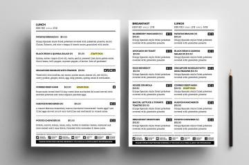 004 Sensational To Go Menu Template Concept  Tri Fold Word360