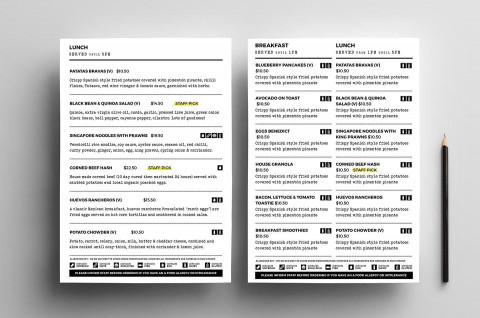 004 Sensational To Go Menu Template Concept  Tri Fold Word480