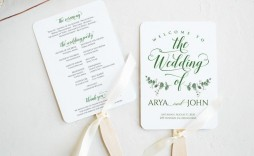 004 Sensational Wedding Program Fan Template Example  Free Word Paddle Downloadable That Can Be Printed