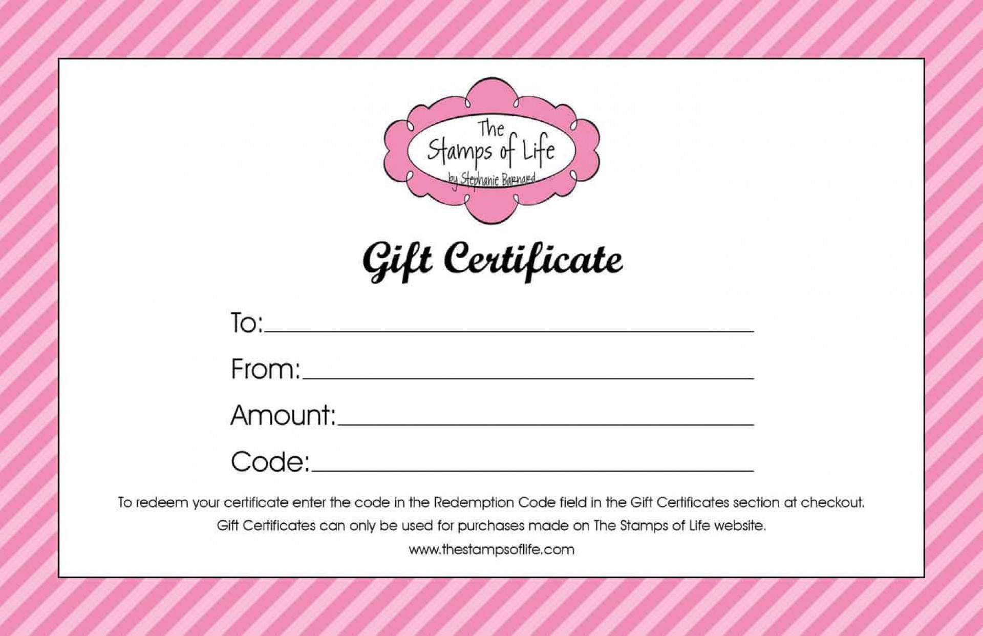 004 Shocking Blank Gift Certificate Template High Def  Free Printable Downloadable1920