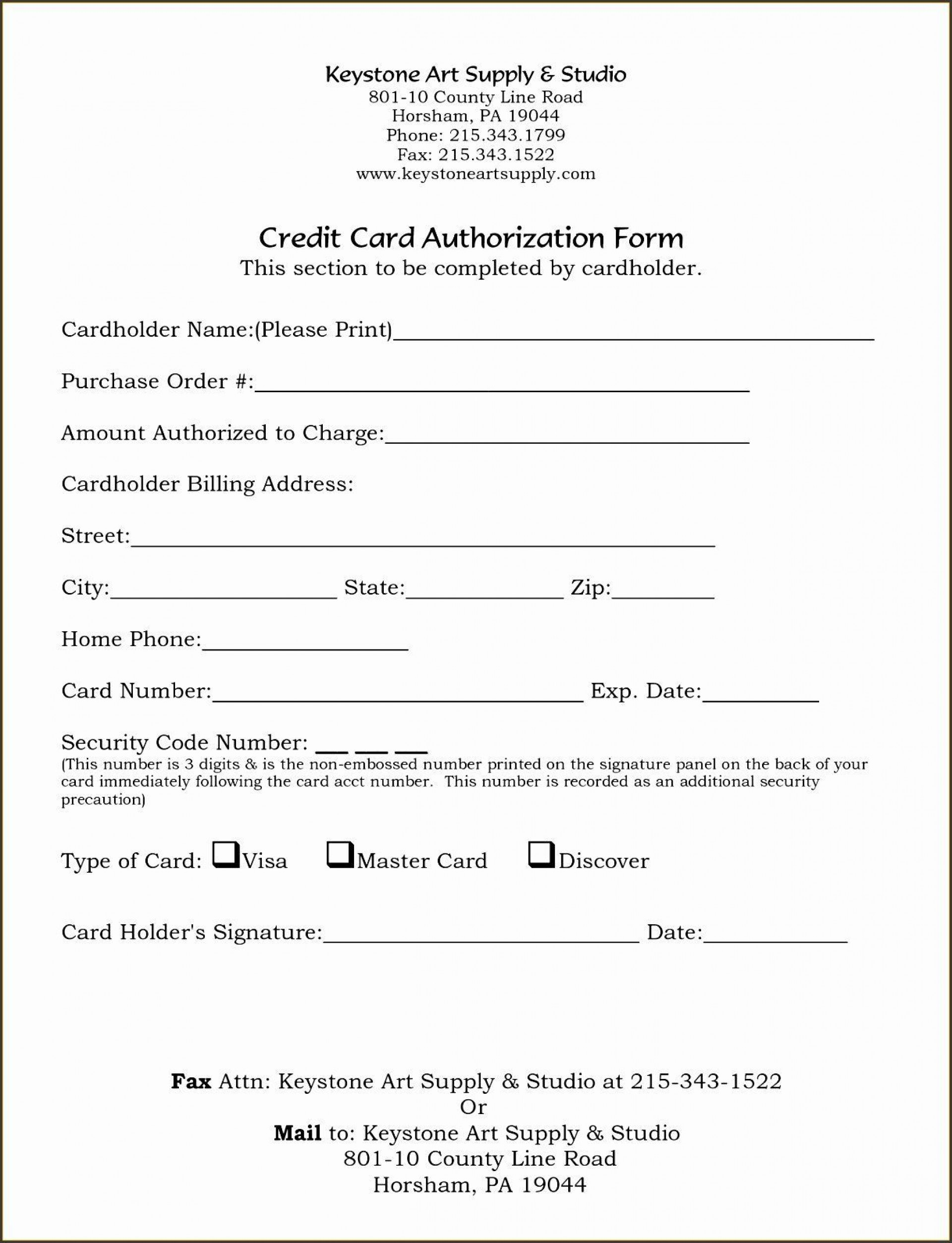 004 Shocking Credit Card Form Template Excel High Def  Authorization Payment1920
