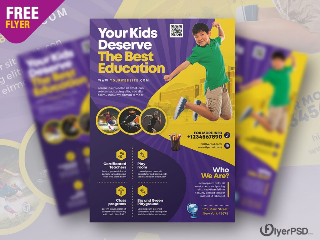 004 Shocking Free School Flyer Template Psd Example  Brochure Download Back ToLarge