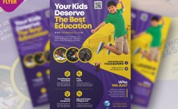 004 Shocking Free School Flyer Template Psd Example  Brochure Download Back To