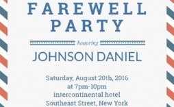 004 Shocking Going Away Party Invitation Template High Definition  Free Printable