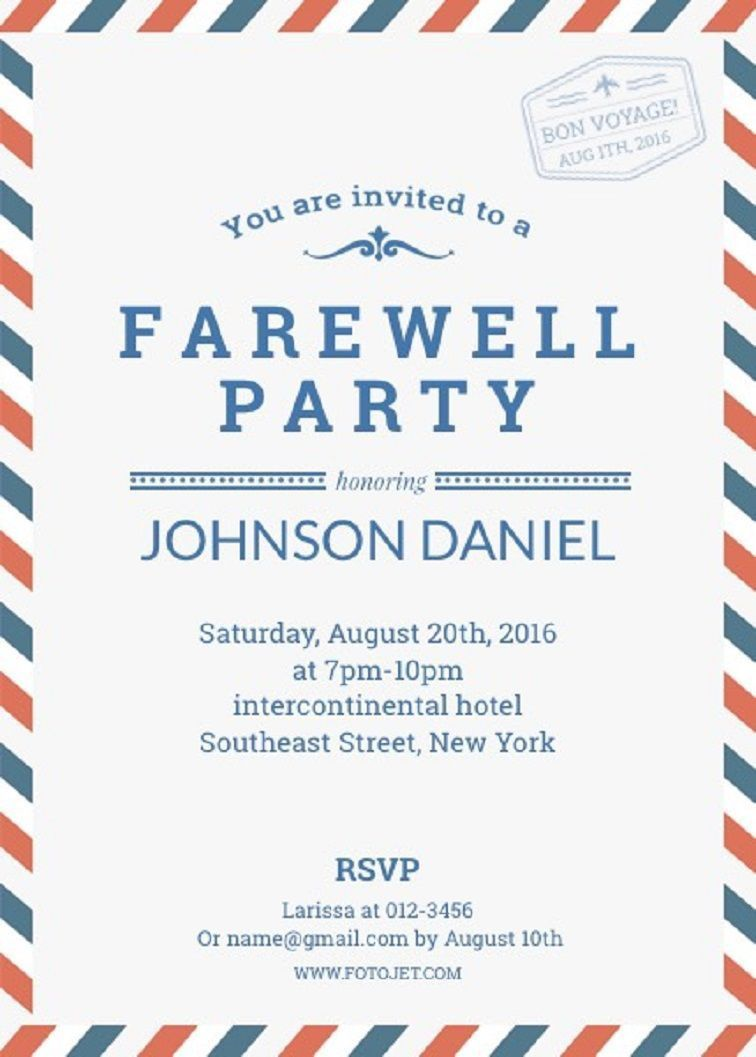004 Shocking Going Away Party Invitation Template High Definition  Free PrintableFull