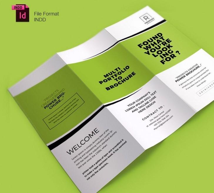 004 Shocking Indesign Trifold Brochure Template Highest Clarity  Tri Fold A4 Bi Free Download728