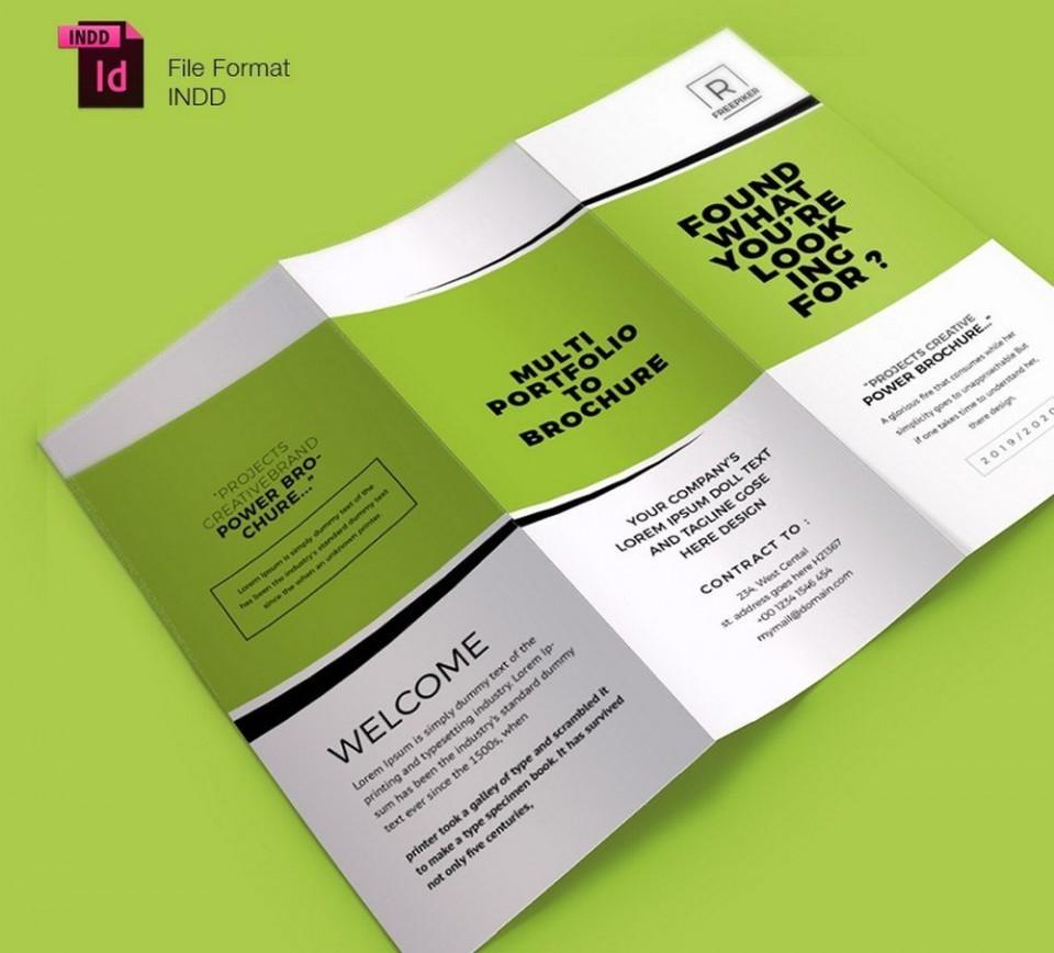 004 Shocking Indesign Trifold Brochure Template Highest Clarity  Tri Fold A4 Bi Free Download960