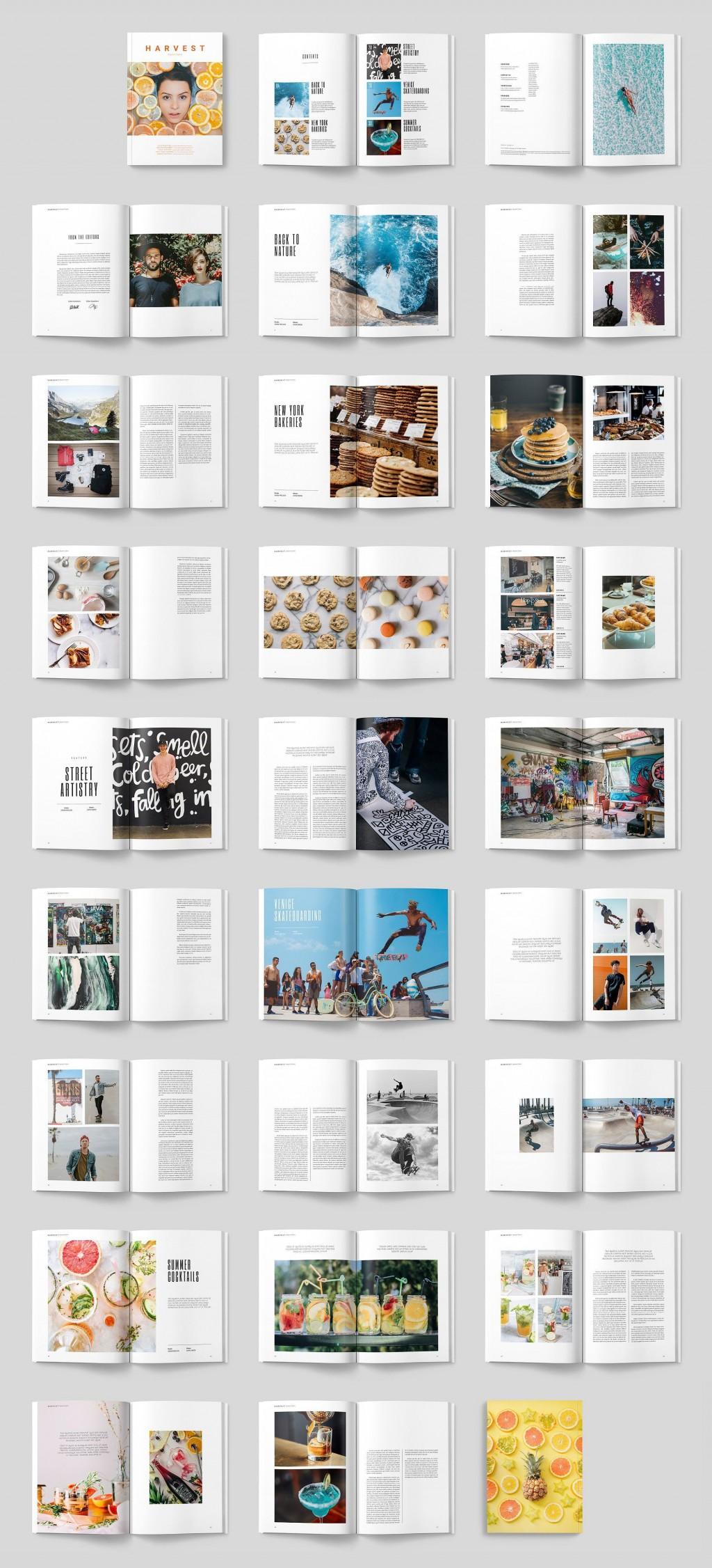 004 Shocking Magazine Template For Microsoft Word Concept  Layout Design DownloadLarge