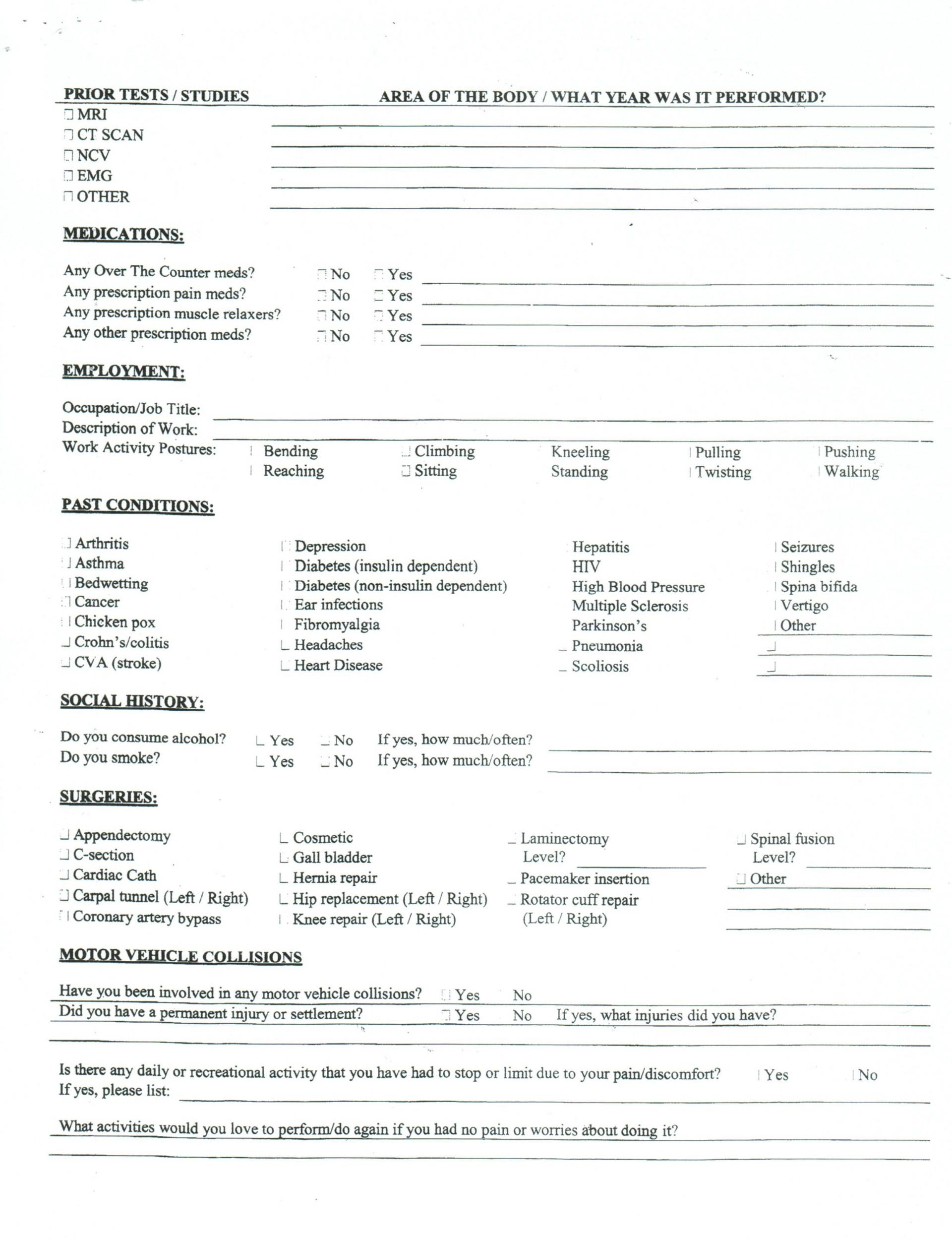 004 Shocking Patient Intake Form Template Design  Word Client Excel Pdf1920