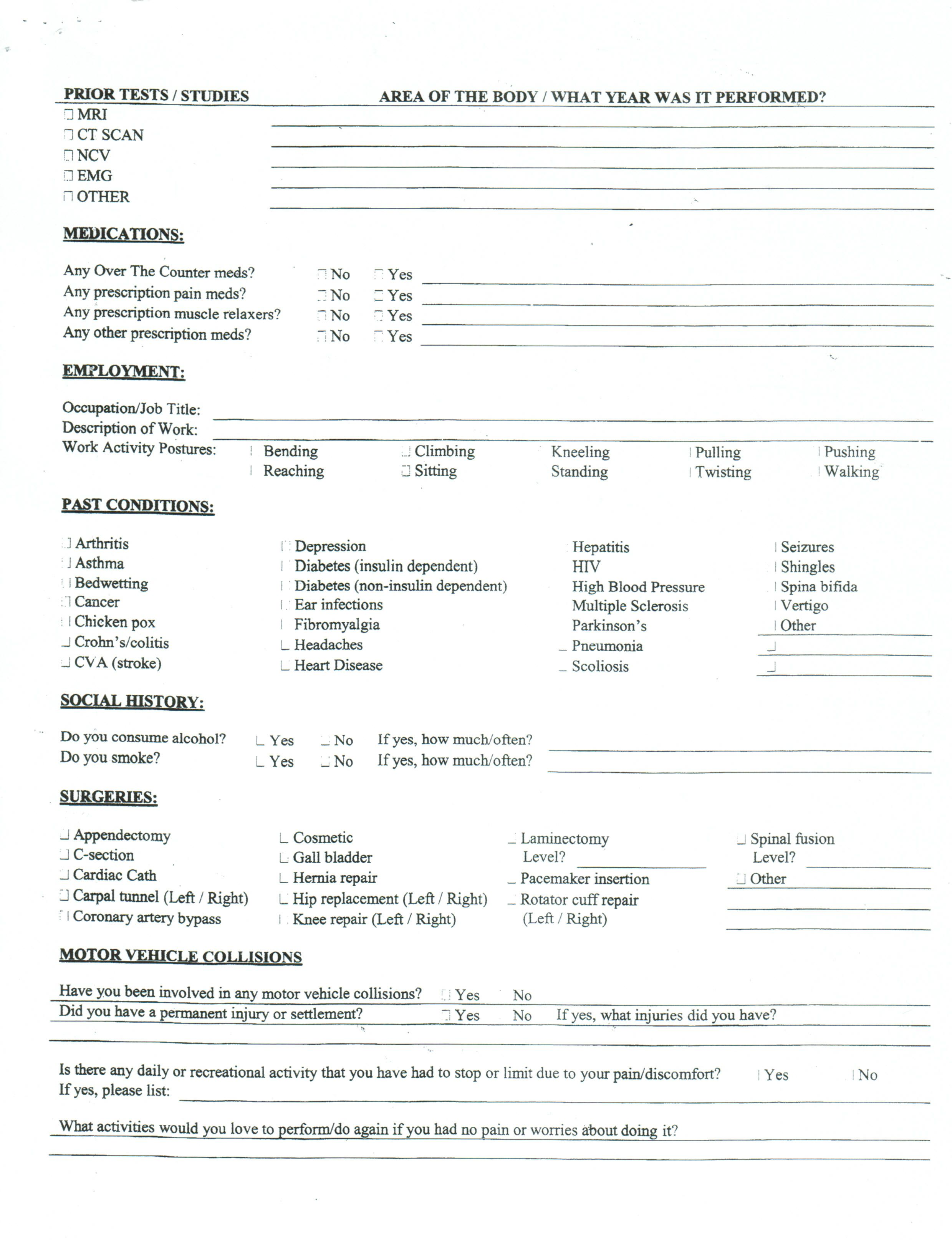 004 Shocking Patient Intake Form Template Design  Word Client Excel PdfFull