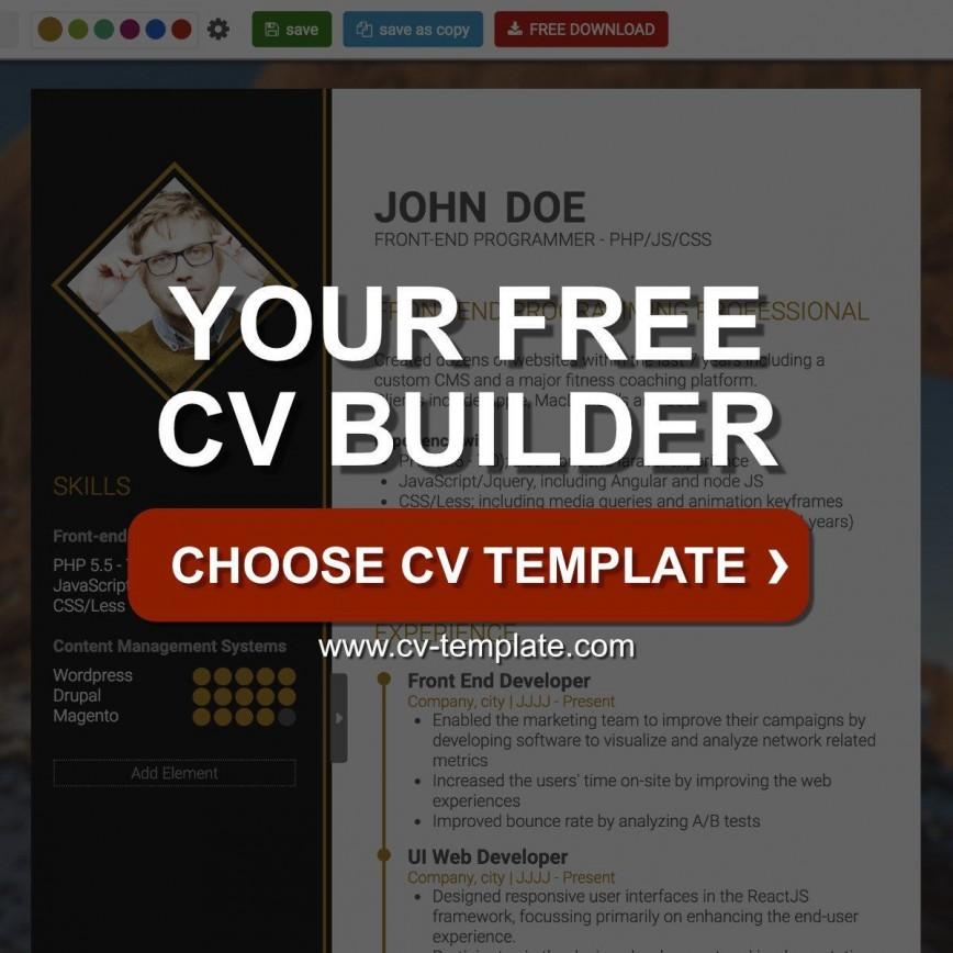 004 Shocking Professional Cv Template Free Online Photo  Resume868