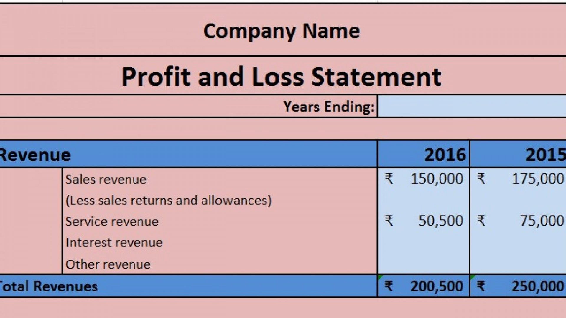 004 Shocking Profit Los Template Excel Highest Quality  Simple Monthly And Statement Download1920