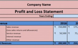 004 Shocking Profit Los Template Excel Highest Quality  Simple Monthly And Statement Download