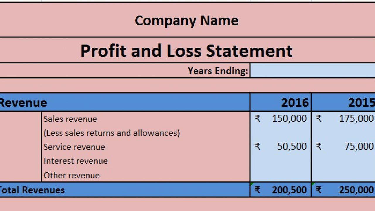 004 Shocking Profit Los Template Excel Highest Quality  Simple Monthly And Statement DownloadFull
