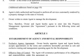 004 Shocking Property Management Contract Form Inspiration  Agreement Template Ontario