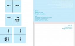 004 Shocking Quarter Fold Greeting Card Template Word Design