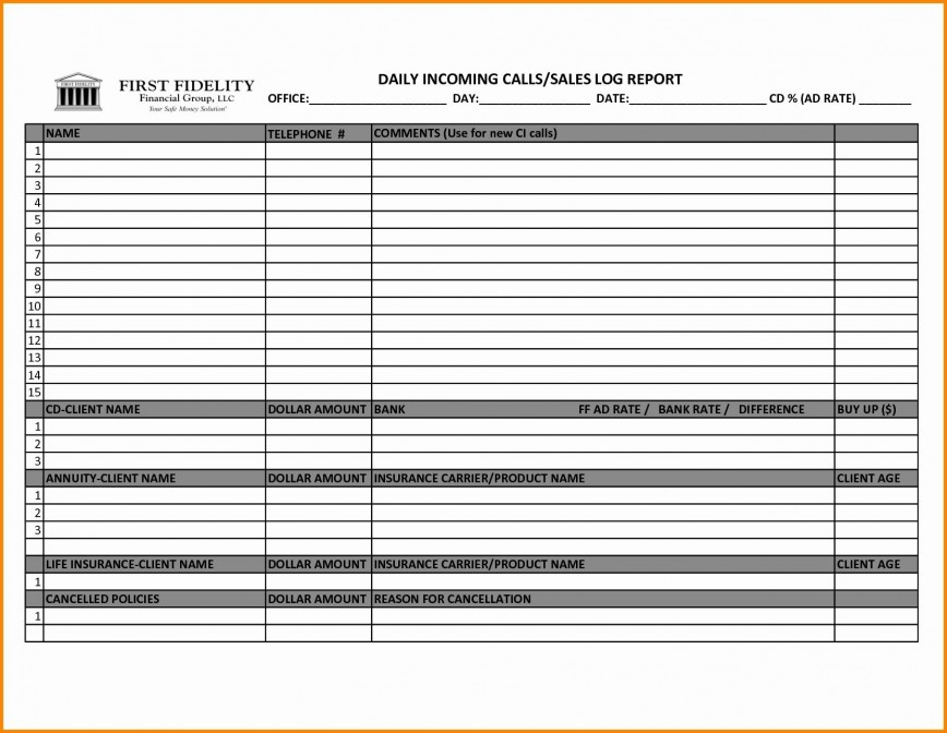 004 Shocking Sale Call Report Template Picture  Free Weekly Excel Word Format