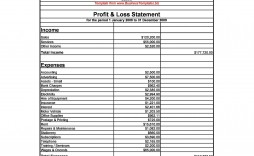 004 Shocking Simple Profit And Los Statement Template For Self Employed Image  Free