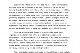 004 Shocking Social Media Policie Template Inspiration  Simple Policy Australia Example For Small Busines