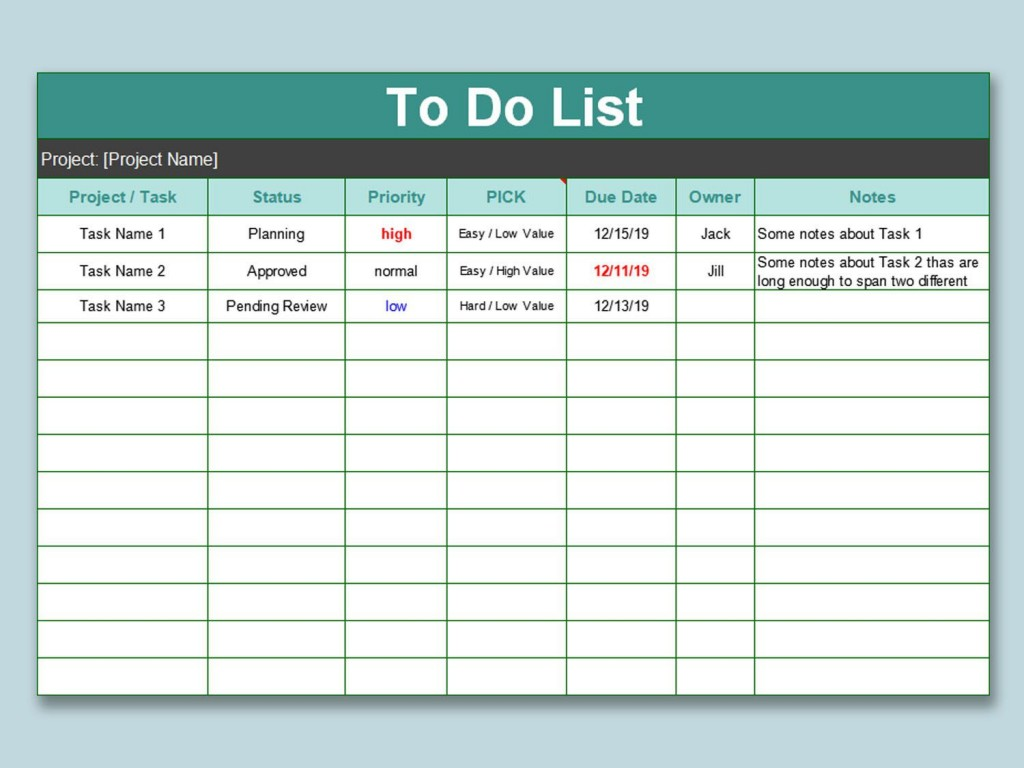 004 Shocking To Do List Template Free High Definition Large