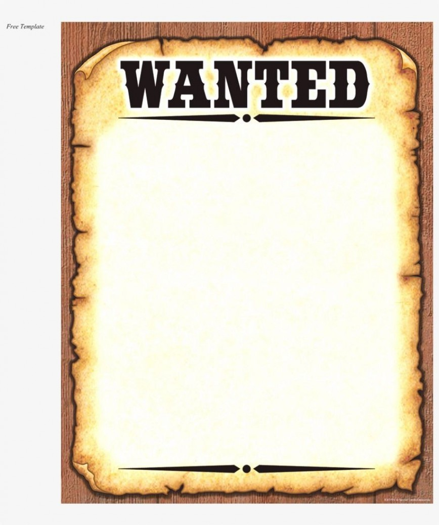 004 Shocking Wanted Poster Template Free Printable Idea  Most