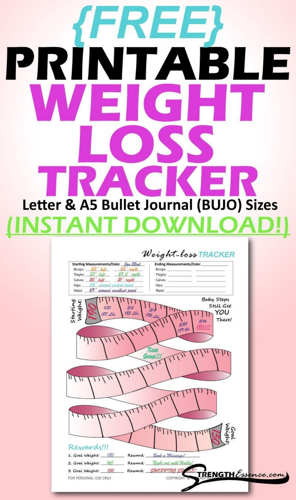 004 Shocking Weight Los Tracker Template Example  Weekly In Thi Body I Live Instagram 2019 2020Large