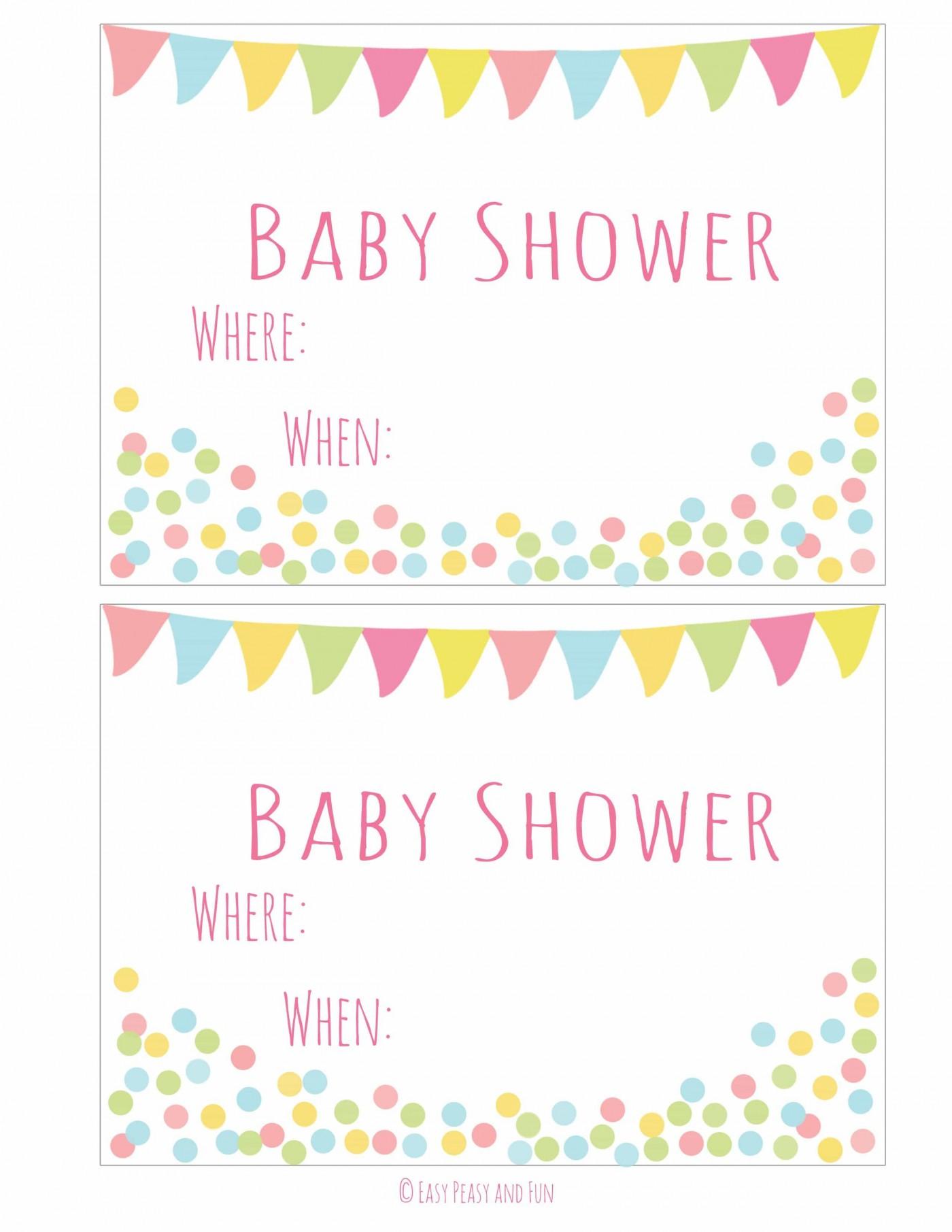 004 Simple Baby Shower Invitation Girl Printable Sample 1400