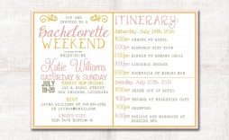 004 Simple Bachelorette Party Itinerary Template Free Idea  Download