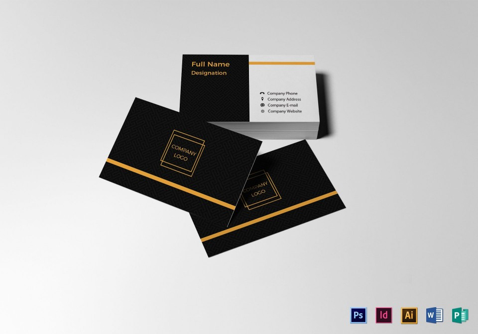 004 Simple Blank Busines Card Template Photoshop Inspiration  Free Download Psd960