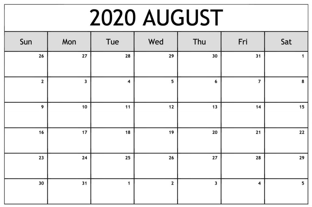 004 Simple Blank Calendar Template Pdf Picture  Free YearlyLarge