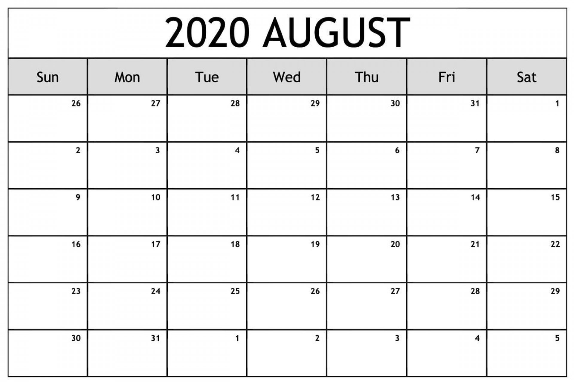 004 Simple Blank Calendar Template Pdf Picture  Free Yearly1920