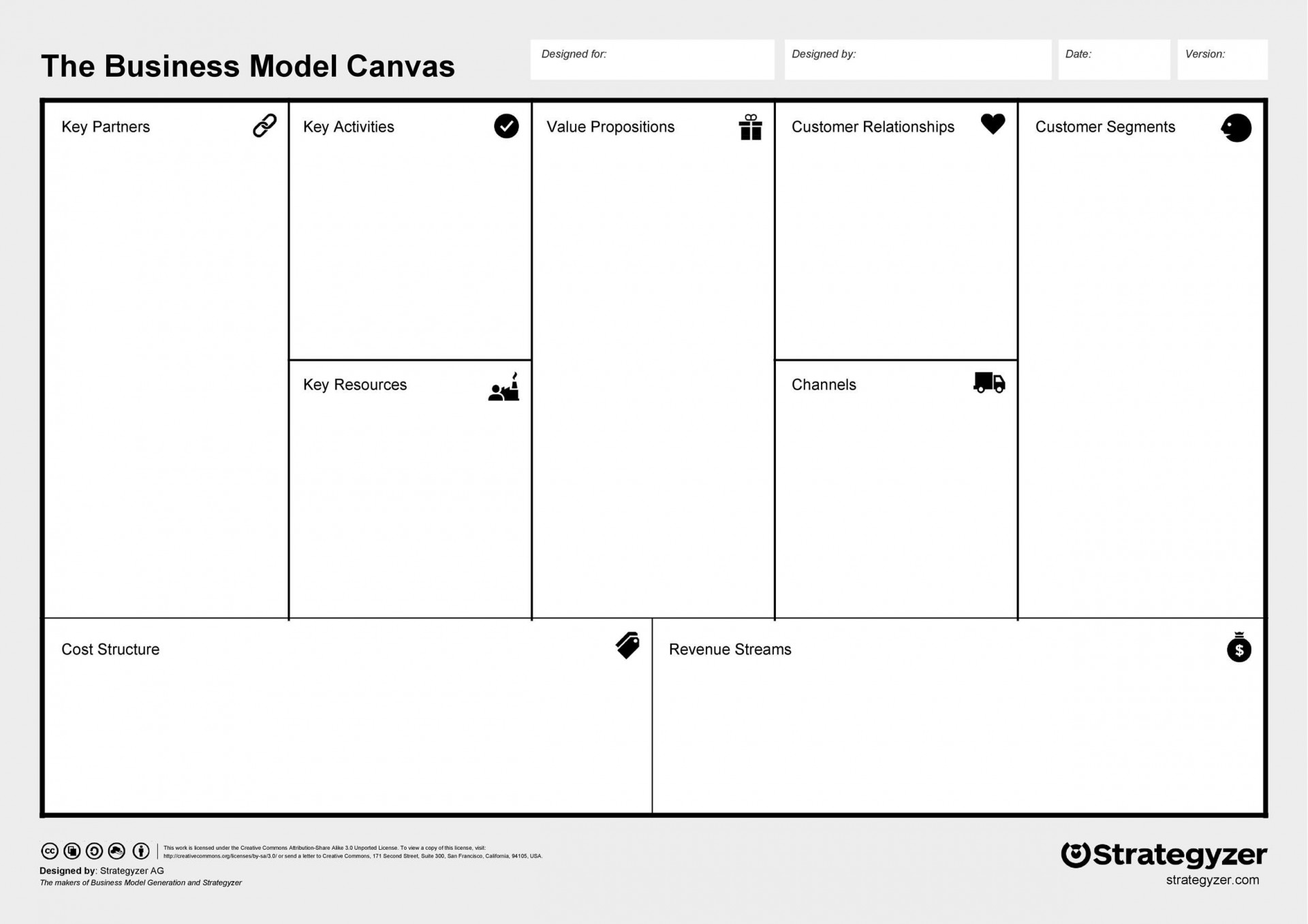 004 Simple Busines Model Generation Template Excel Photo 1920