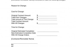 004 Simple Construction Change Order Template Word Picture  Doc