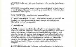 004 Simple Consulting Agreement Template Word High Resolution  Sample Free