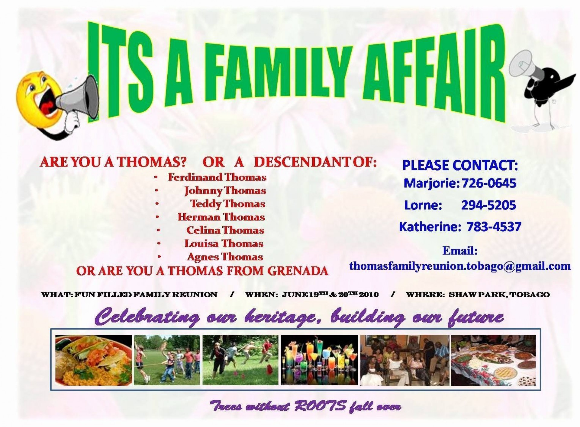 004 Simple Family Reunion Flyer Template Photo  Templates Free For1920