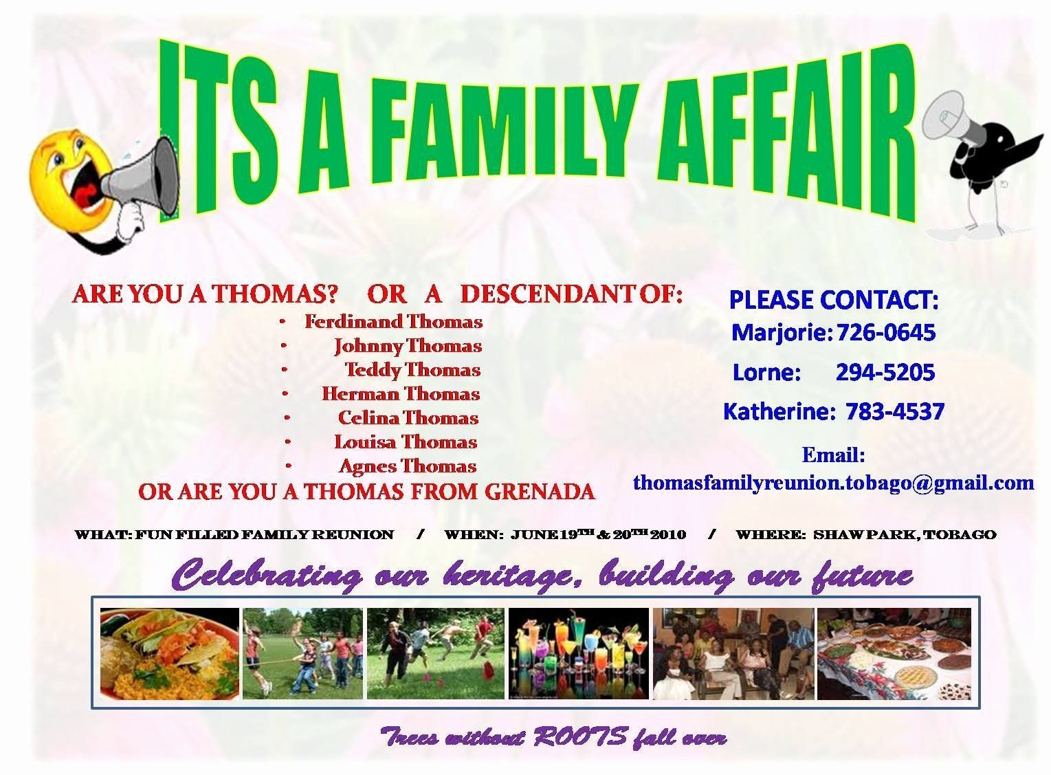 004 Simple Family Reunion Flyer Template Photo  Templates Free ForFull