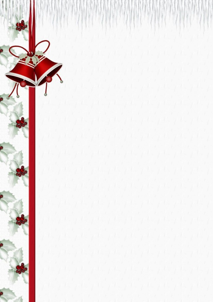 004 Simple Free Holiday Stationery Template For Word Highest Clarity 728