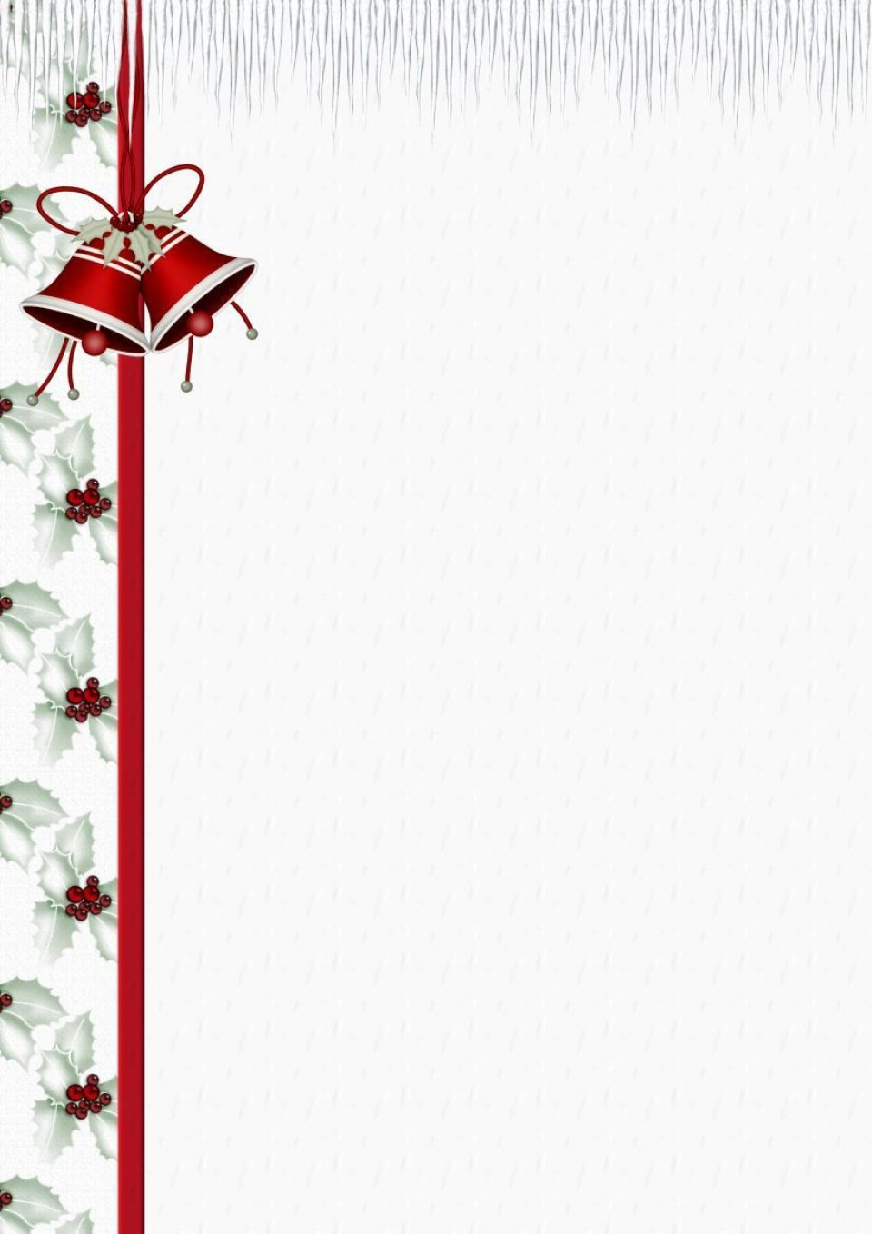 004 Simple Free Holiday Stationery Template For Word Highest Clarity 960