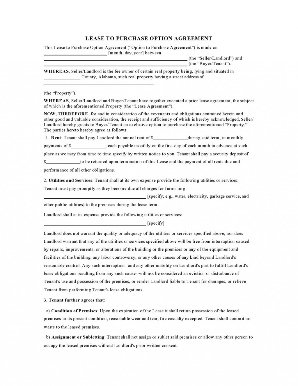 004 Simple Free Rent To Own Home Contract Template Highest Quality  House Form SampleLarge